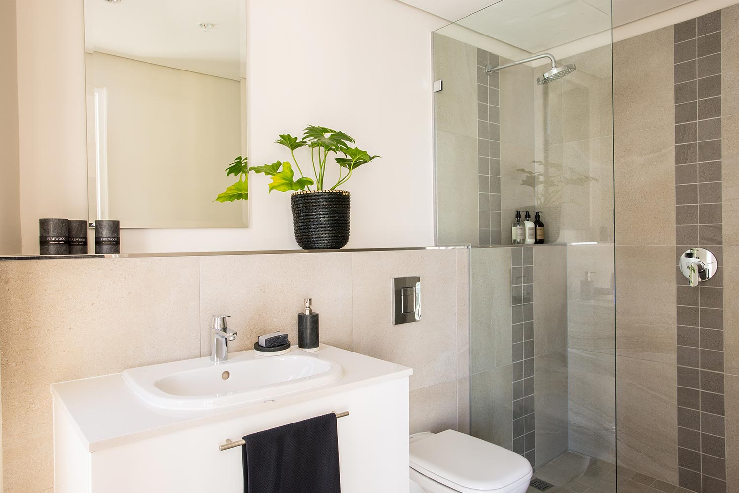 World-class finishings in our bathrooms