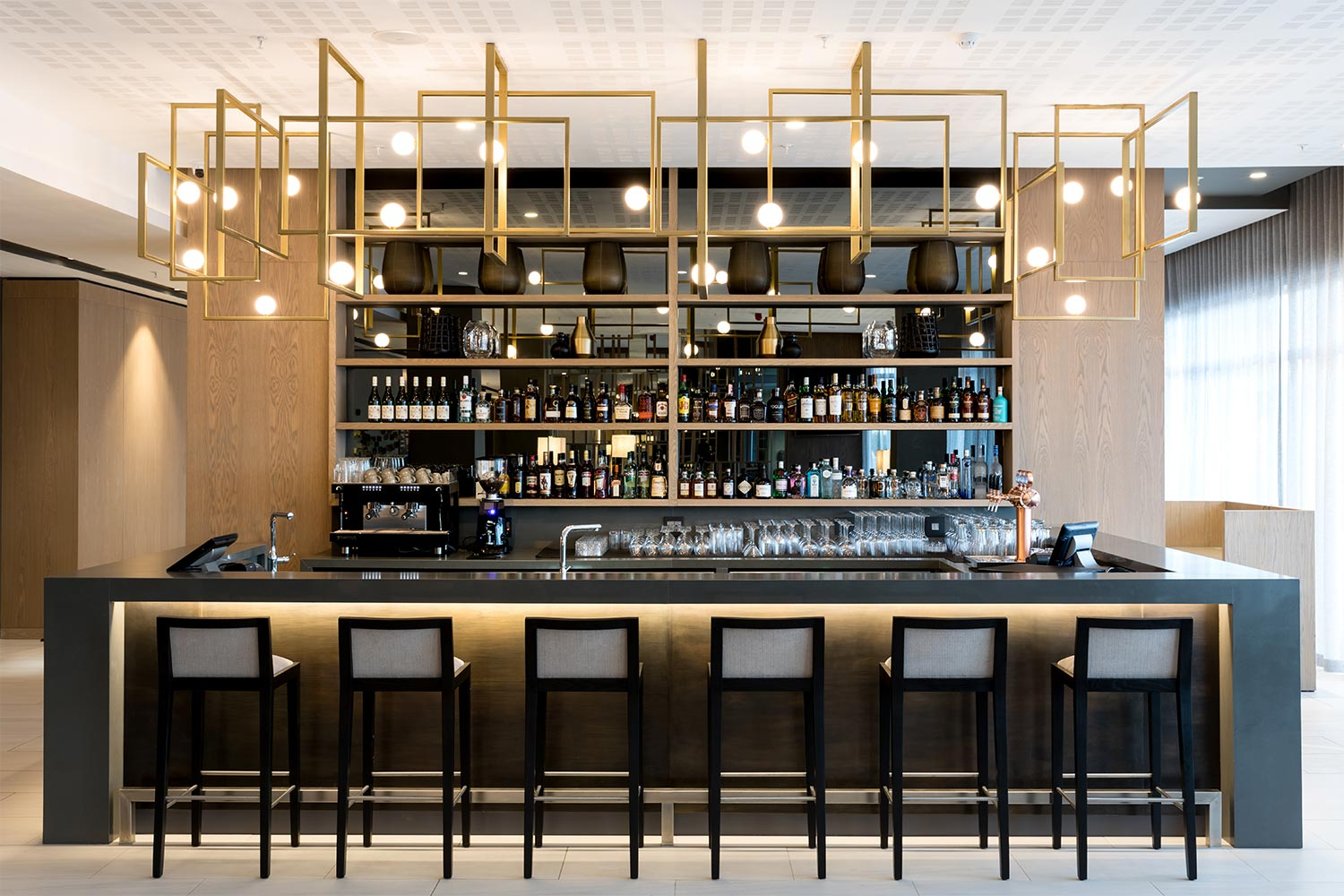 Have a drink at the hotel bar